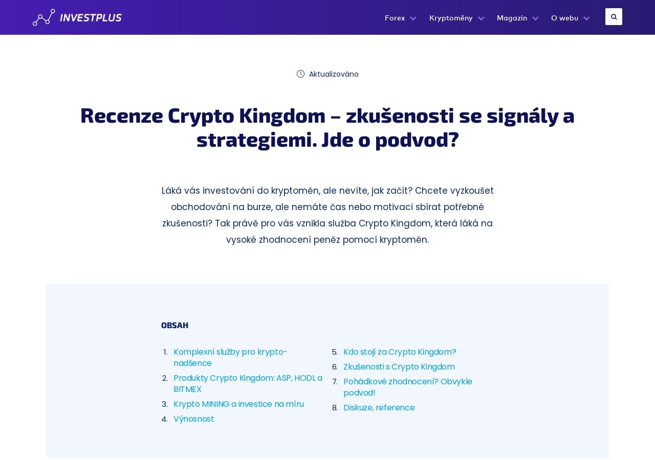 Recenze Crypto Kingdom – zkušenosti se signály a strategiemi. Jde o podvod? (Zdroj: Wordpress.com)