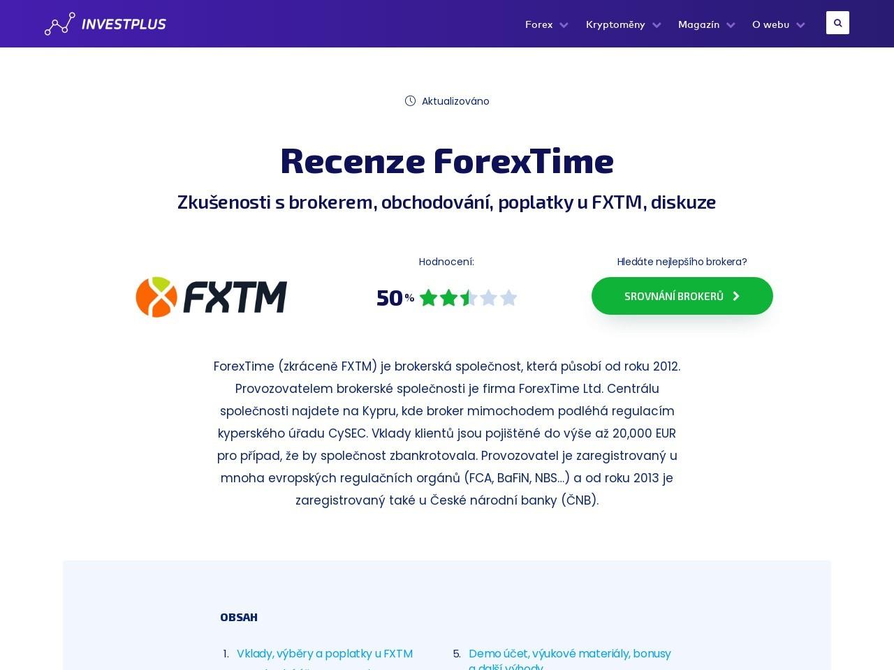 Recenze ForexTime – zkušenosti s brokerem, obchodování, poplatky u FXTM (Zdroj: Wordpress.com)