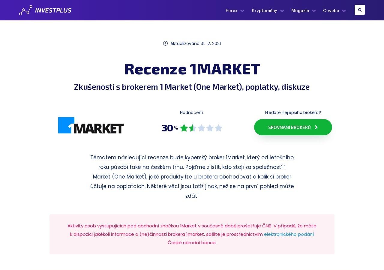 Recenze 1Market – zkušenosti s brokerem 1 Market, obchodování, poplatky, diskuze (Zdroj: Wordpress.com)