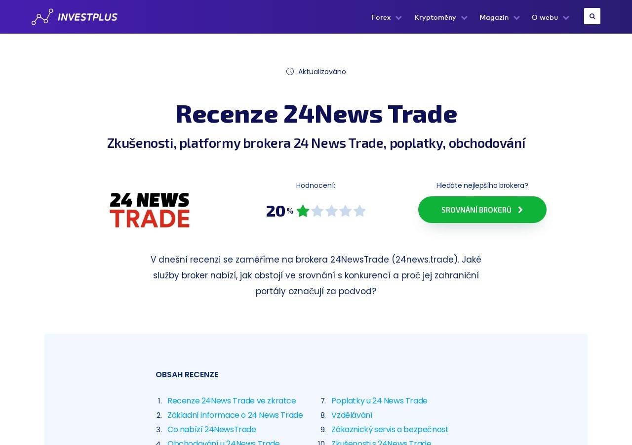 Recenze 24News Trade: Zkušenosti, platformy brokera 24 News Trade, poplatky, obchodování (Zdroj: Wordpress.com)