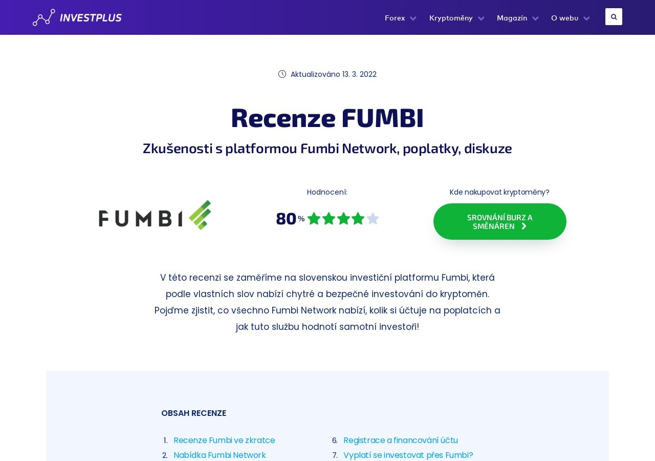 Recenze Fumbi – Zkušenosti s platformou Fumbi Network, poplatky, diskuze (Zdroj: Wordpress.com)