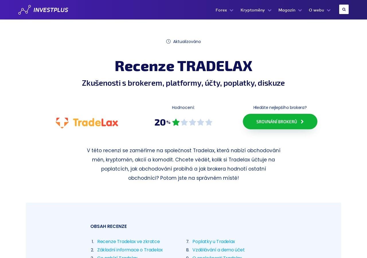 Recenze Tradelax – Zkušenosti s brokerem, platformy, účty, poplatky, diskuze (Zdroj: Wordpress.com)