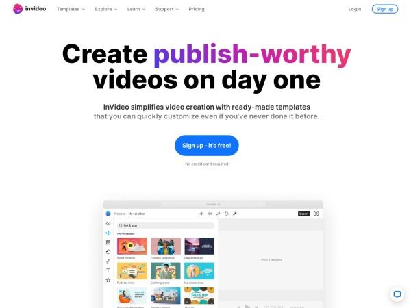 Screenshot of invideo.io