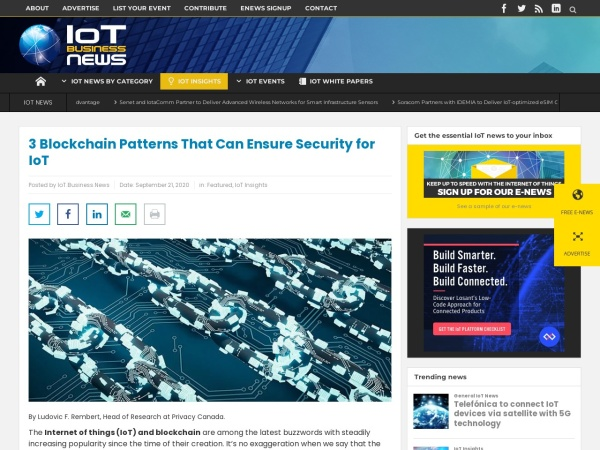 Screenshot of iotbusinessnews.com