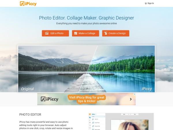 Screenshot of ipiccy.com