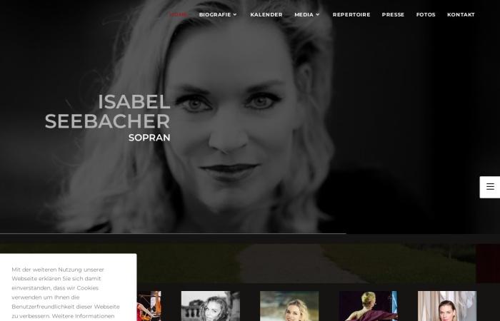 Screenshot of isabelseebacher.at