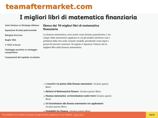 Screenshot of it.teamaftermarket.com