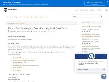 Participating in a Zoom Meeting Quick Start Guide - IT ...