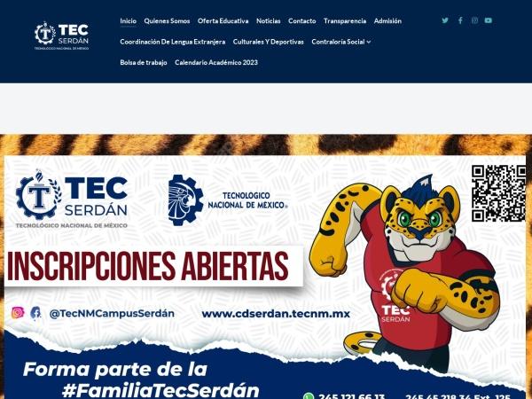 Screenshot of itsciudadserdan.edu.mx