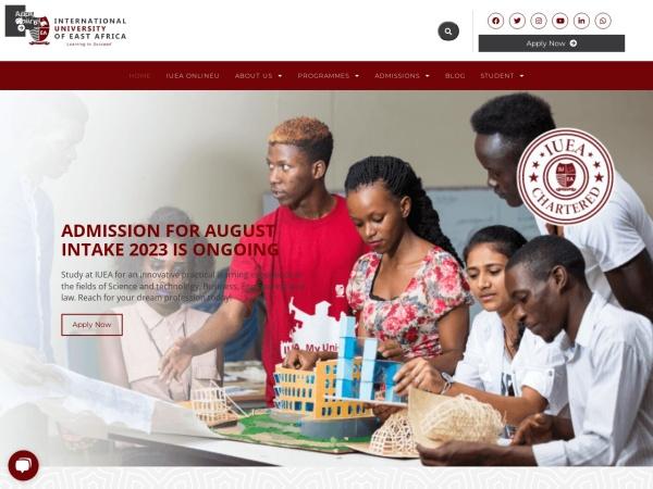 Screenshot of iuea.ac.ug