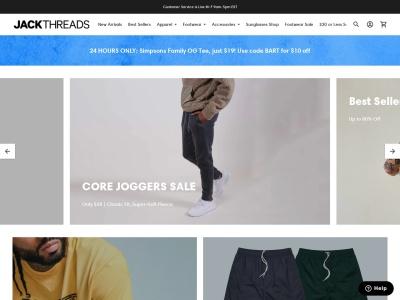 Screenshot of jackthreads.com