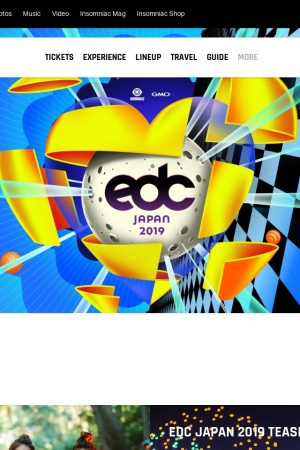 Screenshot of japan.electricdaisycarnival.com