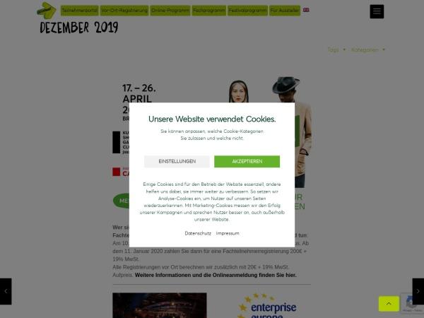 Screenshot von jazzahead.de