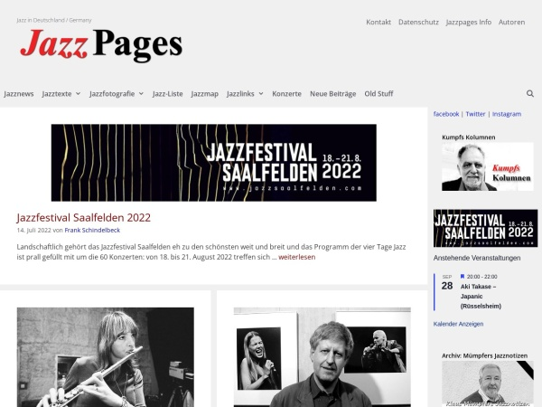 Screenshot von jazzpages.com