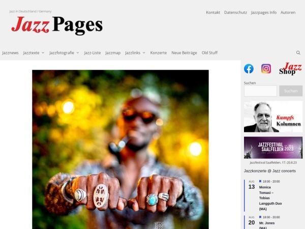 Screenshot von jazzpages.de