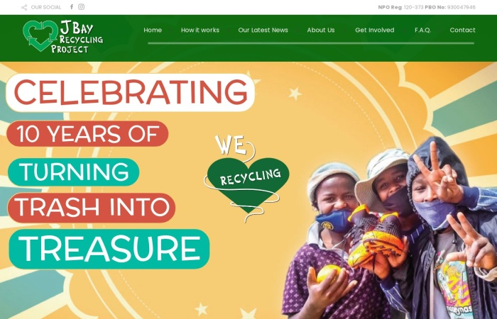 Screenshot of jbayrecyclingproject.org