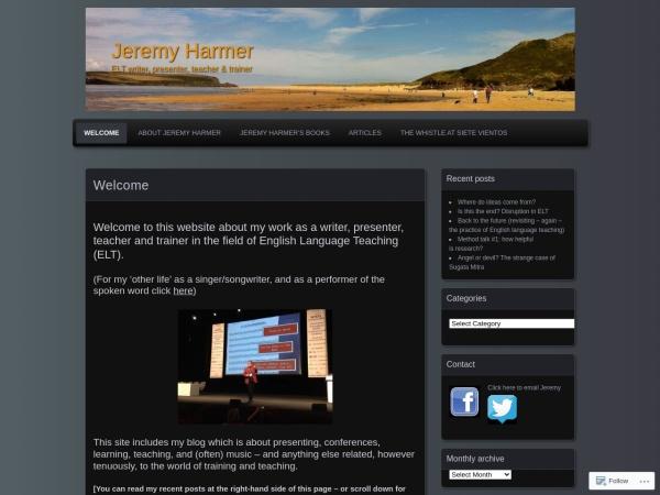 Screenshot of jeremyharmer.wordpress.com