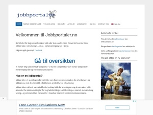 Screenshot of jobbportaler.no