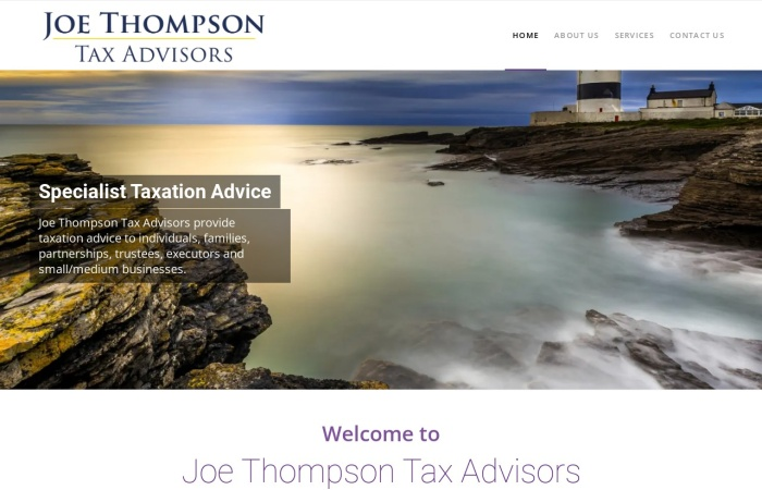 Screenshot of joethompson.ie