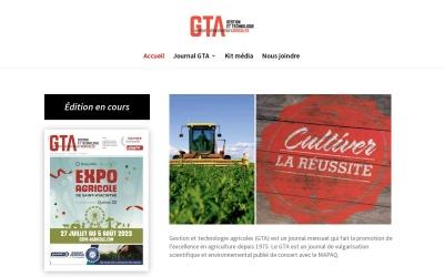 Screenshot of journalgta.ca