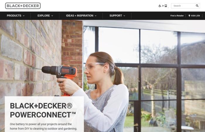 Screenshot of jp.blackanddecker.global
