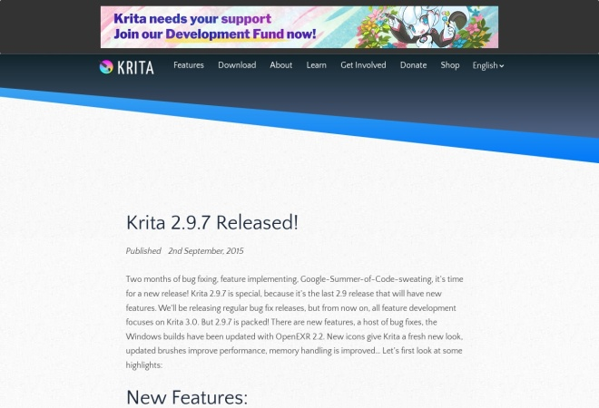 Screenshot of jp.krita.org