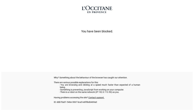Screenshot of jp.loccitane.com