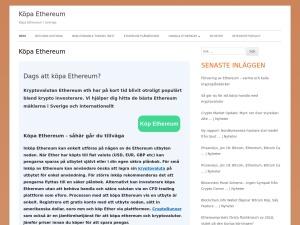 Screenshot of köpa-ethereum.se