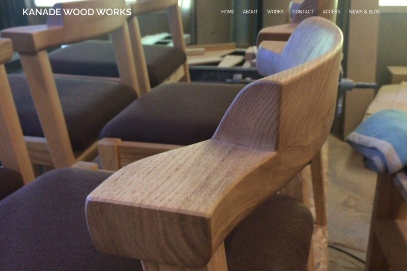 Screenshot of kanadewoodworks.com