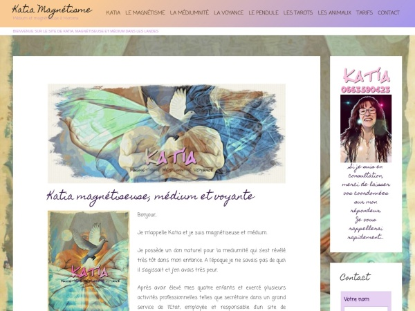 Screenshot of katia-magnetisme.com