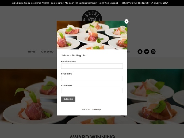 Screenshot of kaurifinefoods.co.uk
