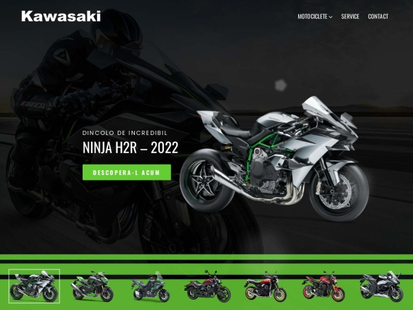 Screenshot of kawasakicluj.ro