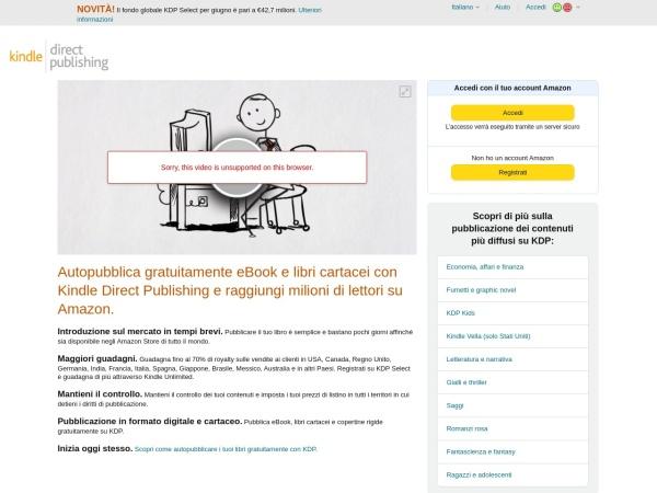 Screenshot of kdp.amazon.com