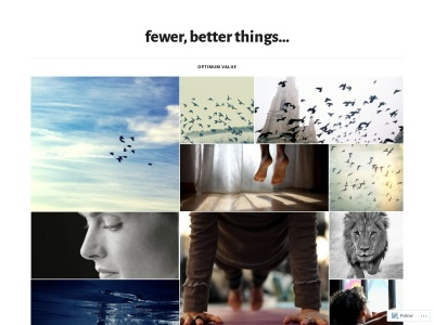 Fewer, Better Things... Screenshot