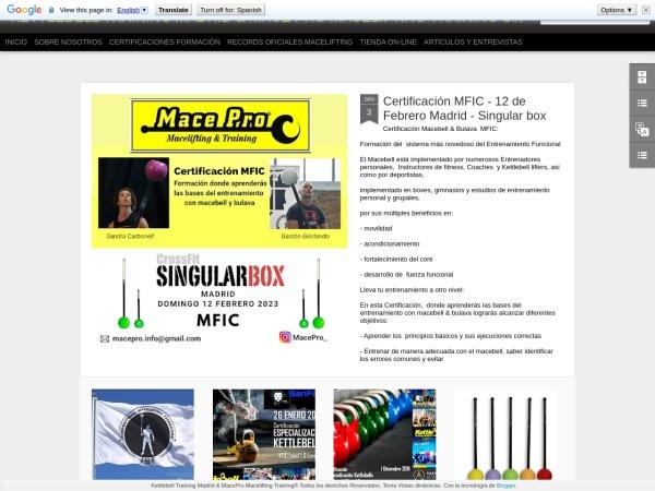 Captura de pantalla de kettlebelltrainingmadrid.blogspot.com