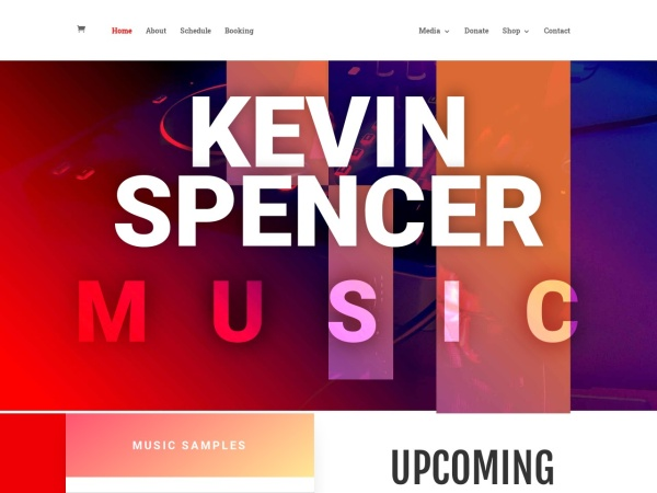 Screenshot of kevinspencermusic.com
