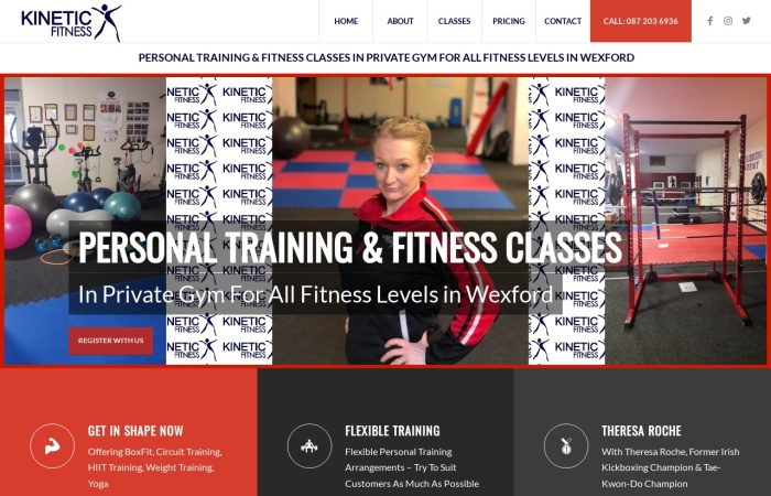 Screenshot of kineticfitness.ie