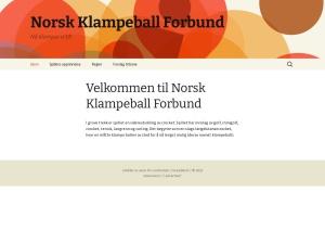 Screenshot of klampeball.no