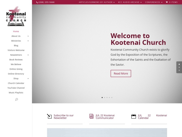 Screenshot of kootenaichurch.org