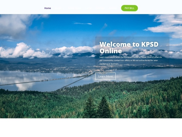 Screenshot of kootenaiponderaysewerdistrict.org