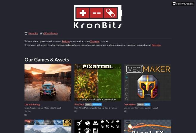 Screenshot of kronbits.itch.io