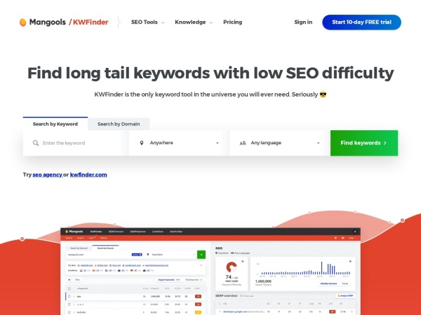 Digitalmarketing - SEO - Keyword und SERP Tools