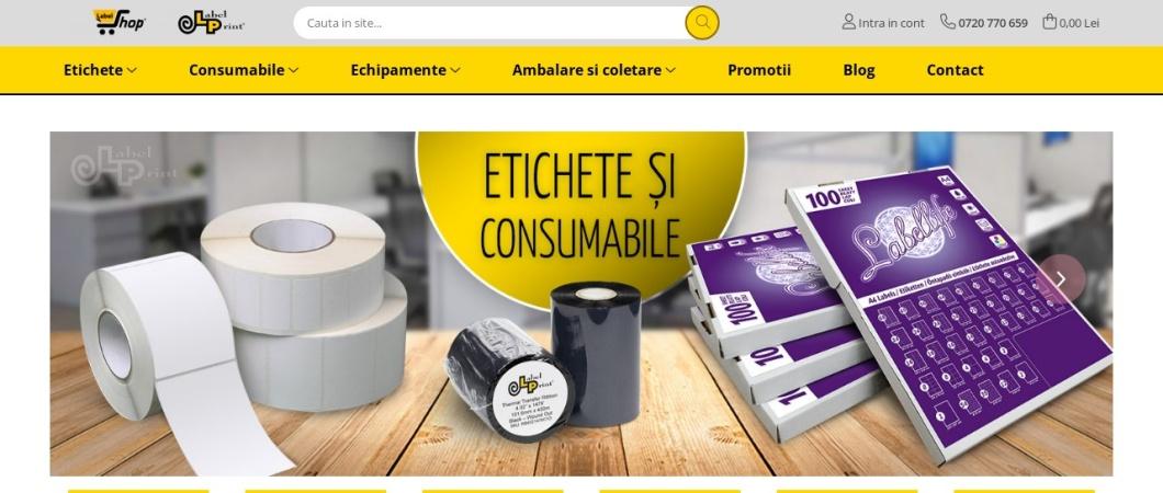 Screenshot of labelshop.ro