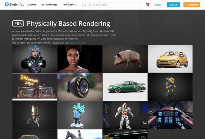 Screenshot of labs.sketchfab.com