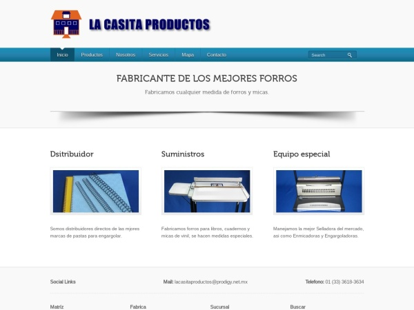 Captura de pantalla de lacasitaproductos.mx