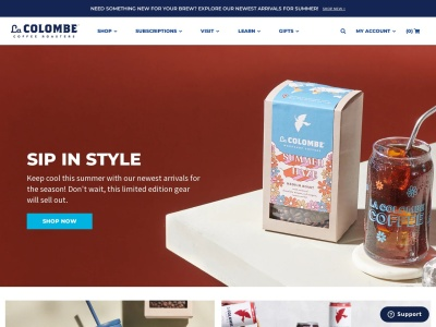 Screenshot of lacolombe.com