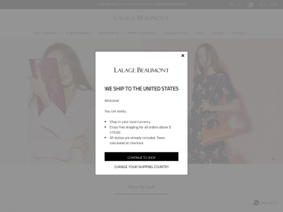 Screenshot of lalagebeaumont.com