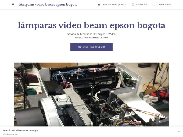 Captura de pantalla de lamparas-video-beam-epson-bogota.negocio.site