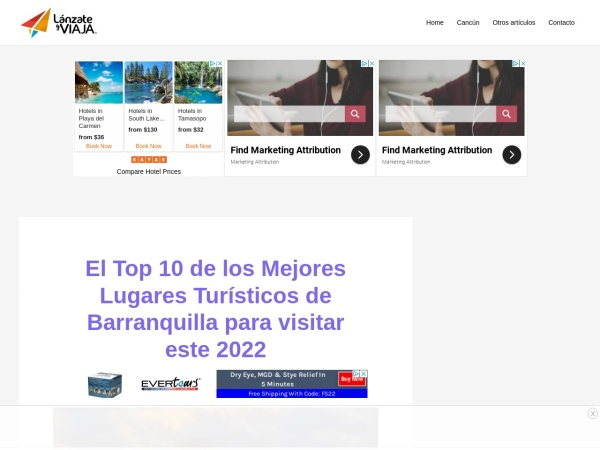 Captura de pantalla de lanzateyviaja.com