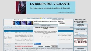 Captura de pantalla de larondadelvigilante.activoforo.com